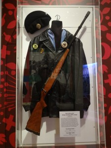 A Panther uniform, at the Oakland Museum